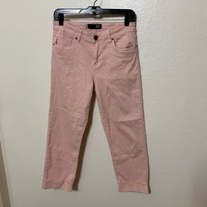 Kut from the Cloth Cuffed Crop Pink Jeans